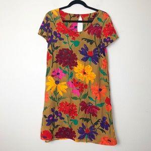 Jams World Hula Moon Short Sleeve Floral Dress